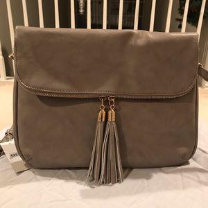 548f1462c7 bp Bags - BP Tassel Foldover Crossbody Bag Grey NWT